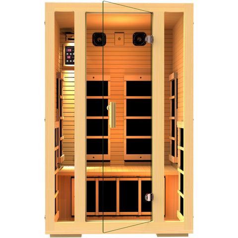 JNH Lifestyles Joyous 2 Person Infrared Sauna - BathVault