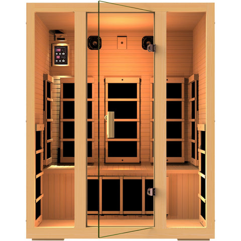 JNH Lifestyles Joyous 3 Person Infrared Sauna - BathVault