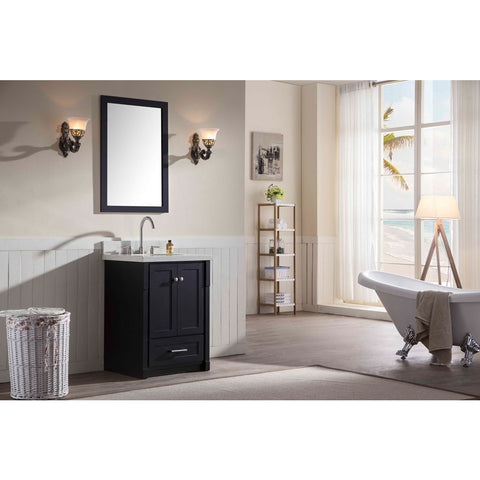 "ARIEL Adams 25"" Single Sink Bathroom Vanity Set Undermount Sink - BathVault"