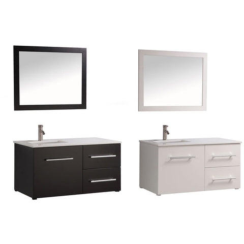 "MTD Vanities Nepal 41"" Single Sink Wall Mounted Bathroom Vanity Set MTD-8133 - BathVault"