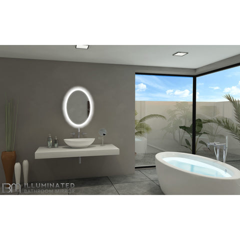 IBMirror Illuminated Vanity Mirror - Paris Oval 110V