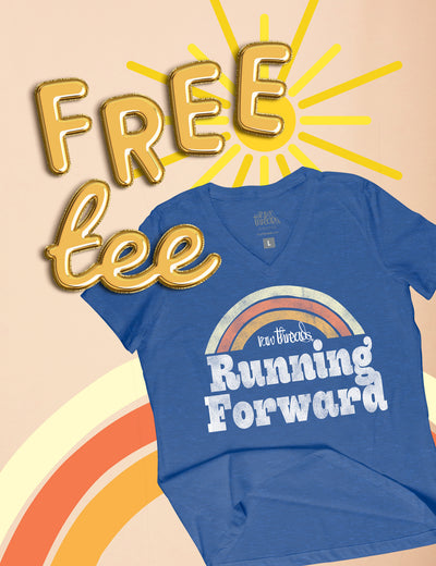 Free Tee! Let's run forward together!