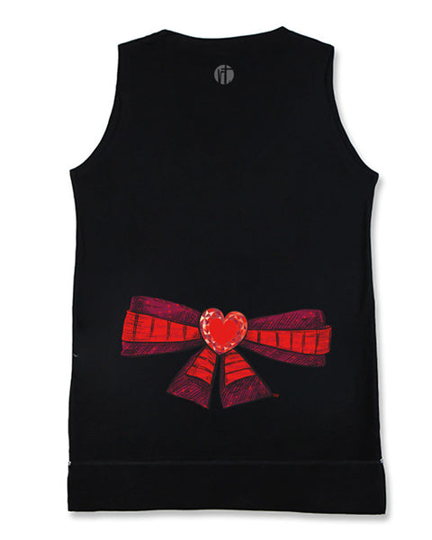 Red Hearts Bow Equilibrium Tank
