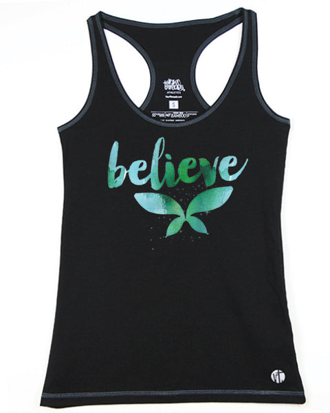 Believe in Watercolors Racer - Raw Threads Athletics