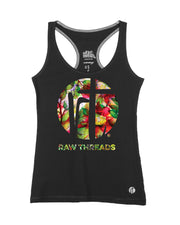 Raw Threads Green Floral Logo Racer