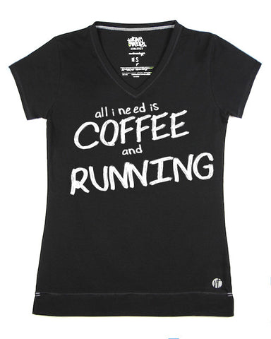 All I Need is Coffee and Running V - Raw Threads Athletics