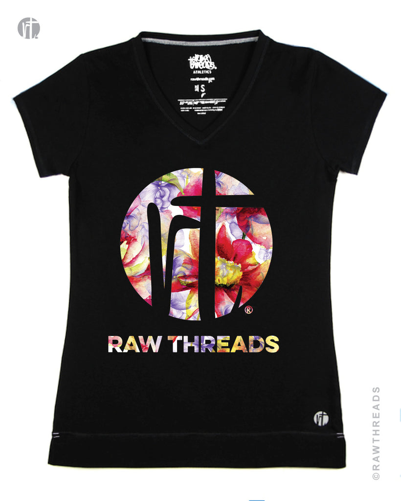 Raw Threads Floral Logo V