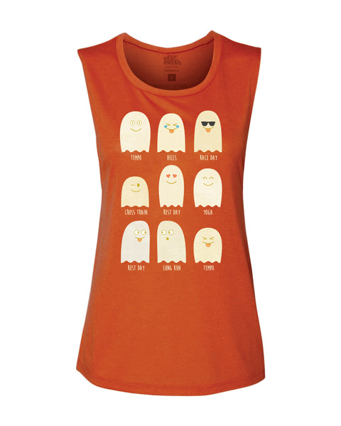 Beware of Running Ghosts Flowy Scoop Tank