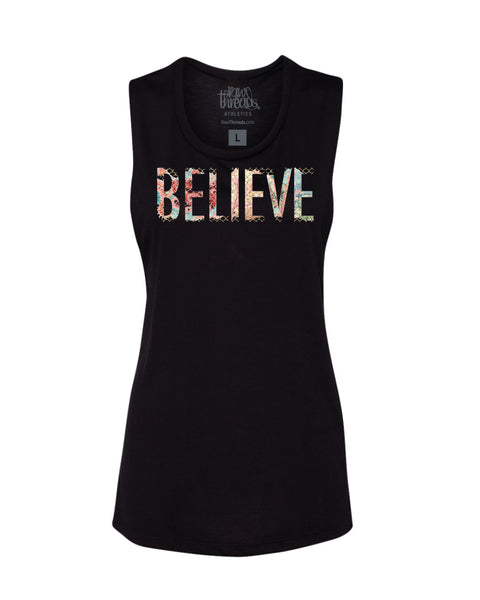 Believe (Mermaid) Flowy Scoop Tank