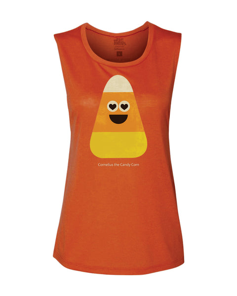 Cornelius the Candy Corn Flowy Tank