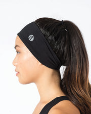 Black Recycled Polyester Headband
