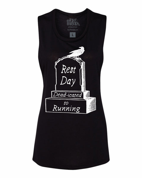 Rest Day - DEADicated to Running Flowy Scoop Tank