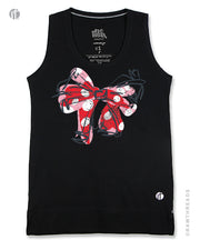 Red Polka Dot Bow Equilibrium Tank