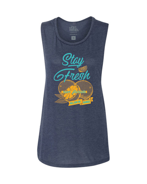 Stay Fresh - Run Florida Flowy Scoop Tank
