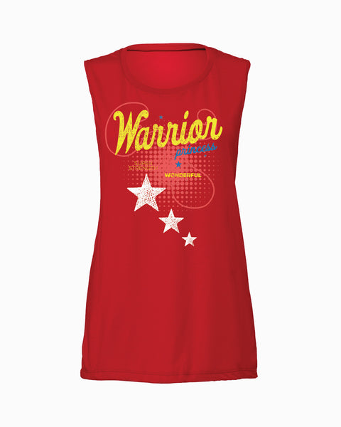 Warrior Princess Flowy Scoop Tank