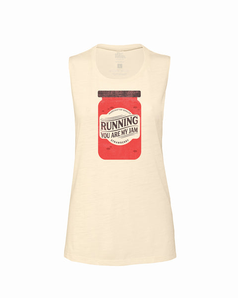 RUNNING you are my JAM Flowy Scoop Tank