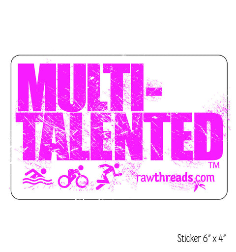 Multi-Talented Sticker in Pink