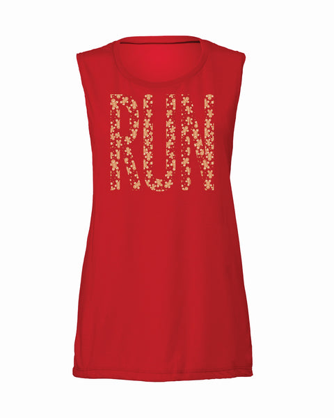 Gingerbread BIG RUN Flowy Scoop Tank