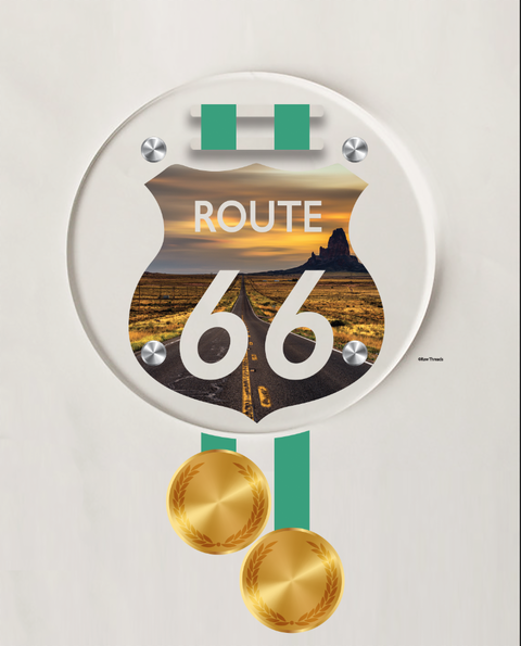Acrylic Art: 'Route 66' Medal Display