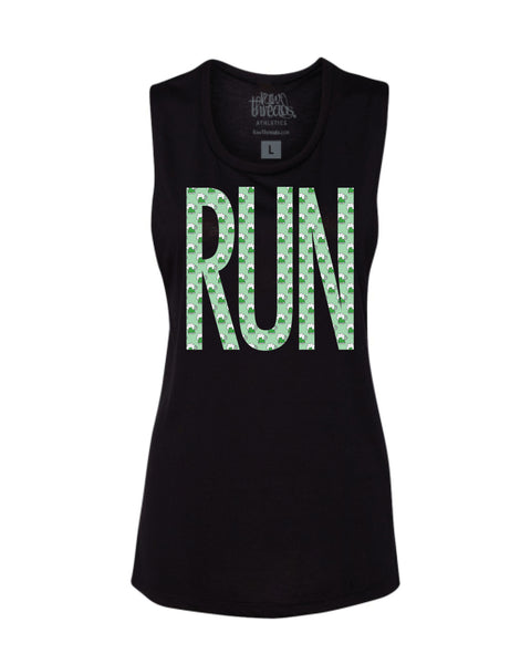 Green Beer BIG RUN Flowy Scoop Tank