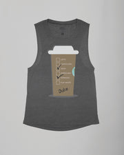 Personalized Giant Hot Coffee Cup (Flavors) Flowy Scoop Tank
