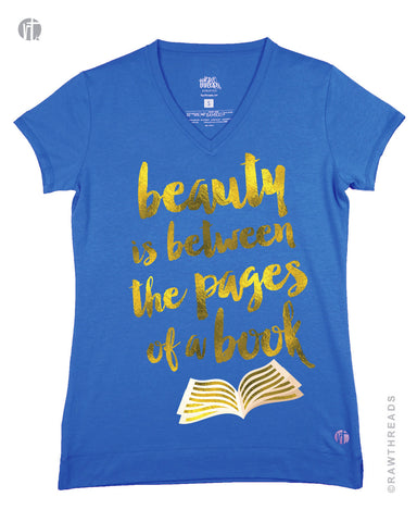 Beauty Is Between The Pages Of A Book (Gold Ink) V