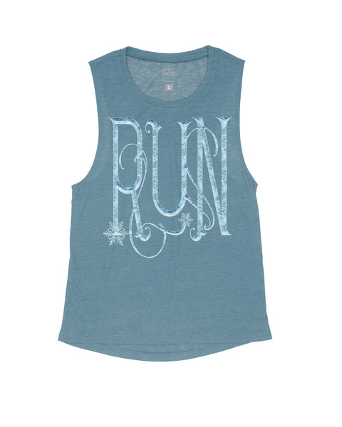 Iced Over BIG RUN Flowy Scoop Tank
