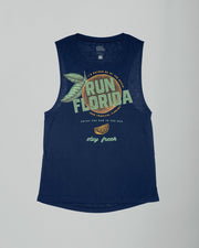 Run Tropical Florida Flowy Scoop Tank
