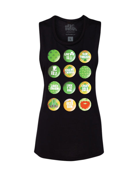 St. Patrick's Day FLAIR (Half Marathoner) Flowy Scoop Tank