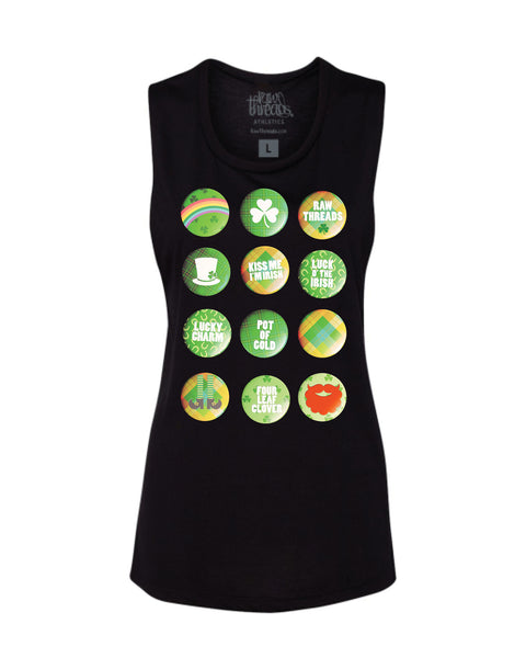 St. Patrick's Day FLAIR (No Distances) Flowy Scoop Tank