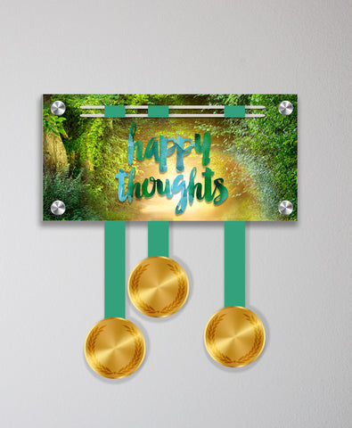 Acrylic Art: Happy Thoughts Medal Display