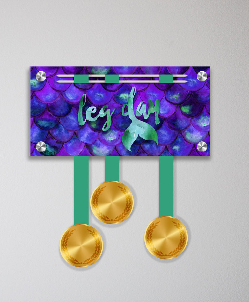 Acrylic Art: Leg Day Medal Display