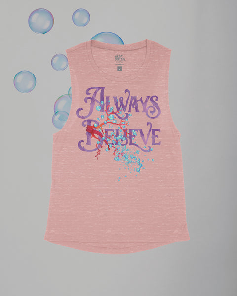 Always Believe (Mermaid) Arrow Flowy Scoop Tank