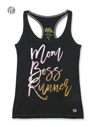 Mom Boss Runner (Pink-Gold Sparkle) Racer