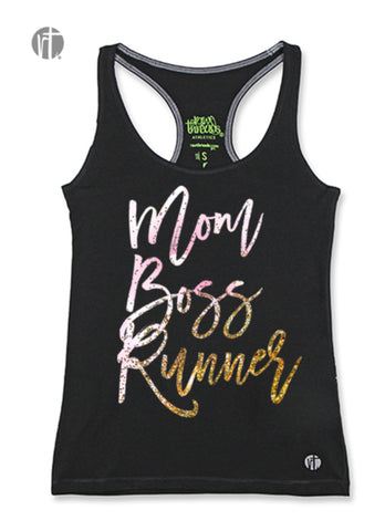Mom Boss Runner (Pink-Gold Glitter) Racer