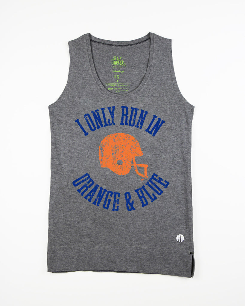 Vintage 'I Only Run in Orange & Blue' Half Marathon Equilibrium Tank