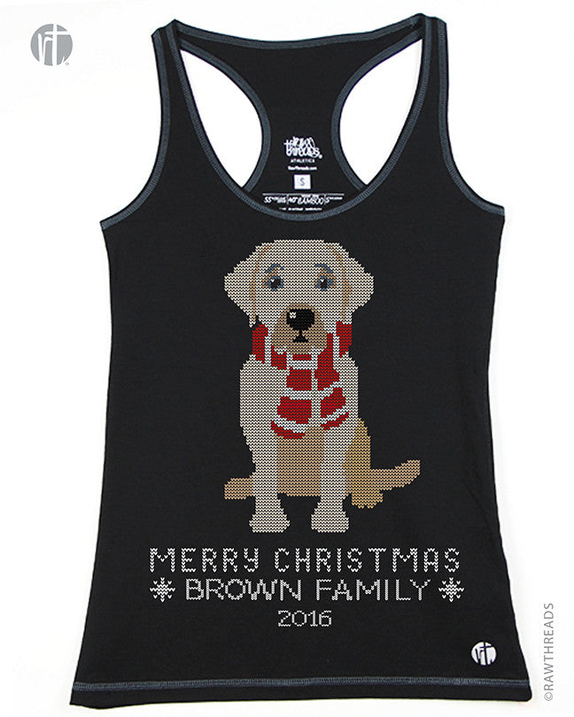 'Personalized' Labrador Christmas Sweater Racer