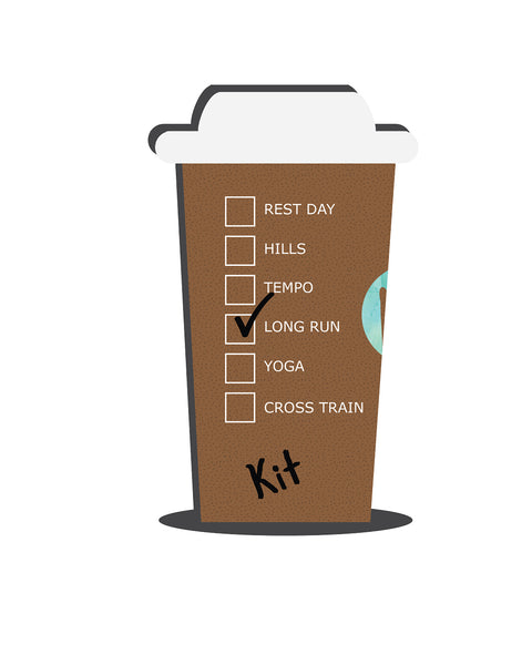 Personalized Giant Hot Coffee Cup (Distances) V