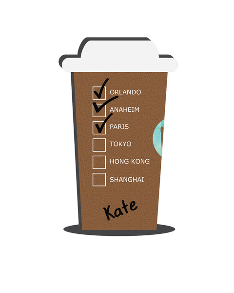 Personalized Giant Hot Coffee Cup (Cities) V