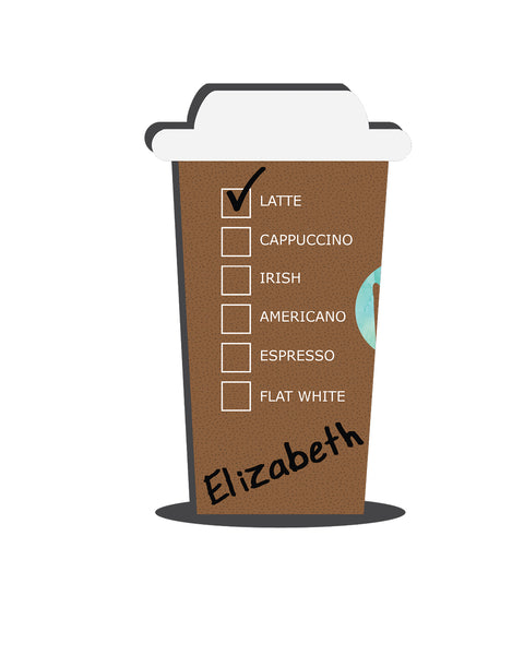 Personalized Giant Coffee Cup (Flavors) V