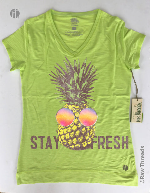 Stay Fresh Pineapple Slubbed V