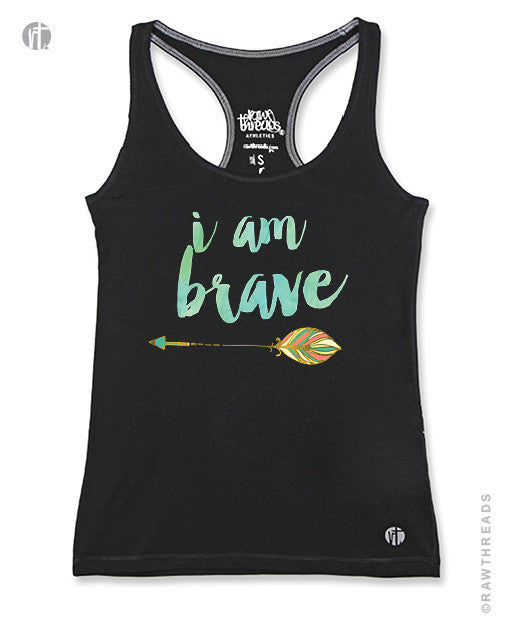 I am Brave Racer (Coral/Green Arrow)