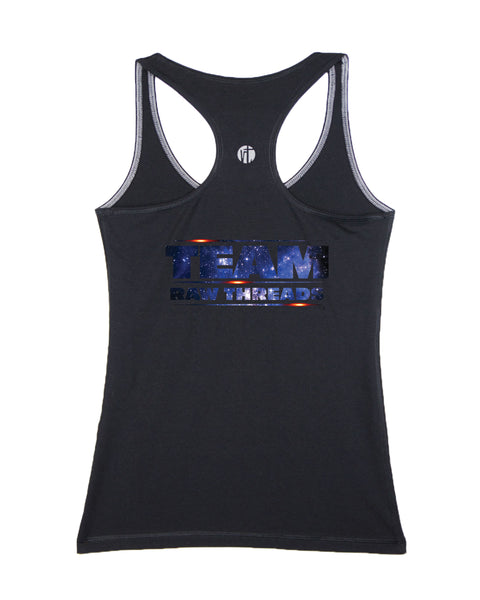 Raw Threads Blue Galaxy Logo Racer