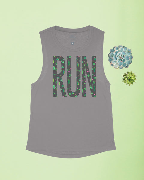 Succulent Big Run Flowy Scoop Tank
