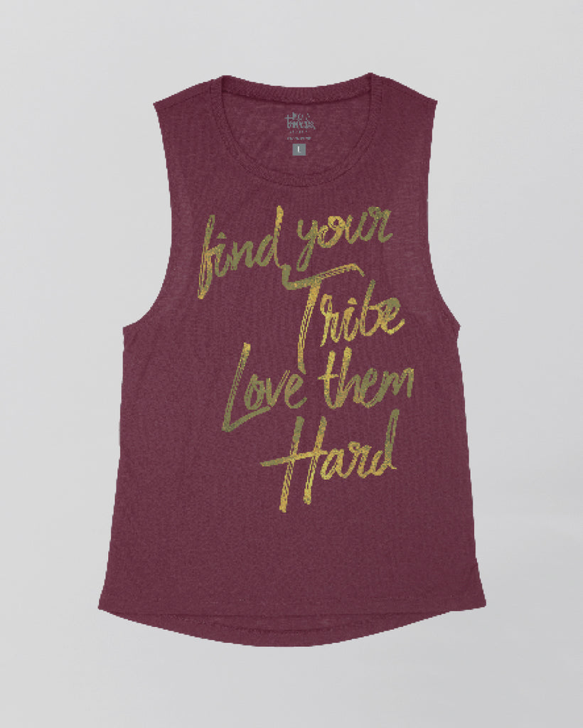 Find Your Tribe Love Them Hard Printed Racer