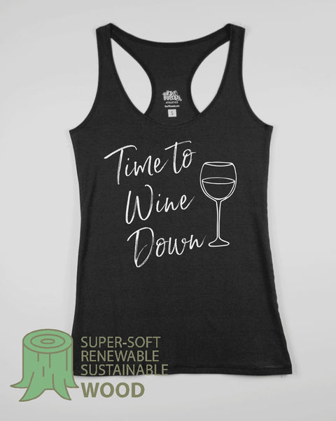 Time to Wine Down Flowy Scoop Tank