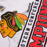 Chicago Blackhawks NHL Reebok White 2015 Western Conference Champions T-Shirt