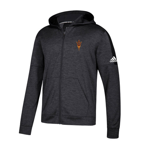 Arizona State Sun Devils NCAA Adidas Men's Black Climawarm Full Zip Hoodie