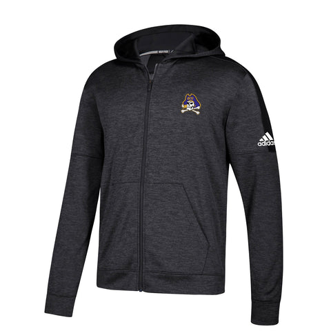 East Carolina Pirates NCAA Adidas Men's Black Climawarm Full Zip Hoodie