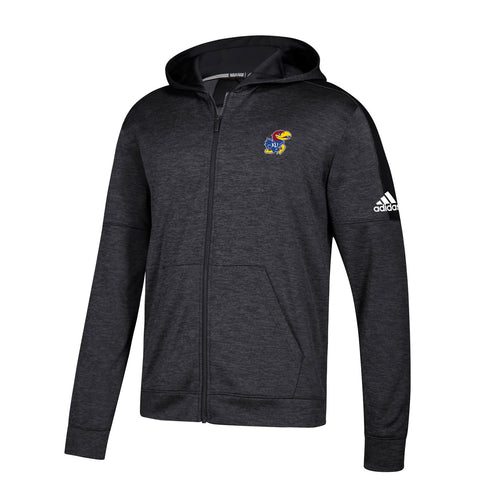 Kansas Jayhawks NCAA Adidas Men's Black Climawarm Team Issue Full Zip Hoodie